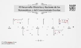 El desarrollo histórico y reciente de las Matemáticas, y del