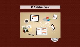 Copy of BP Work Experience