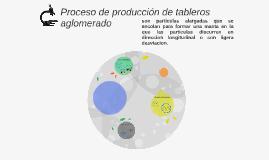 Copy of Proceso de producción de tableros aglomerado