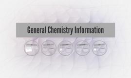 General Chemistry Information