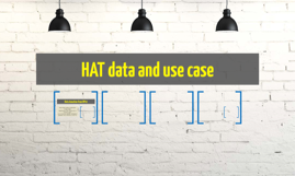 HAT data and use case