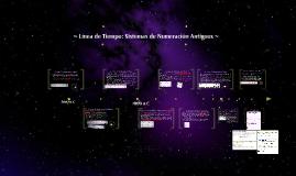 Línea de Tiempo: Sistemas de Numeración