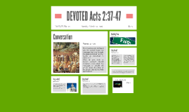 DEVOTED Acts 2:37-47