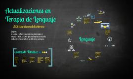 Copy of Actualizaciones en Terapia de Lenguaje