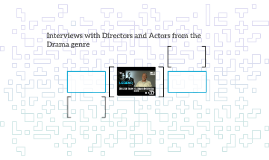 Interviews with Directors and Actors from the genre of Drama