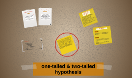 one-tailed & two-tailed hypothesis