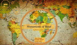 Monuments of Rizal