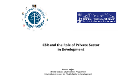 CSR and Global Compact