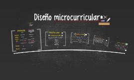 Diseño microcurricular