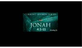 Disasters:  Jonah 4:1-10