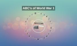 ABC's of World War 1