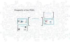 Prosperity of the 1920