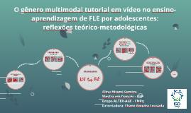 O gênero multimodal tutorial em vídeo e suas contribuições p