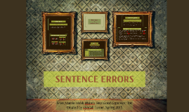 Copy of SENTENCE ERRORS