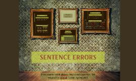 Copy of SENTENCE ERRORS