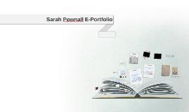 Sarah Pownall E-Portfolio