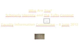 Scholarly Identity I