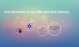Anti-Semitism in the 20th and 21st Century