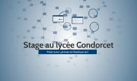 Stage lycée Condorcet - Présentation