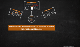 Predictors of Academic Procrastination in Asian Internationa