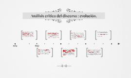 Copy of Analisis critico del discurso :Evolucion.