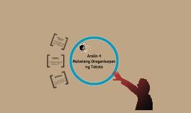 Aralin 4: Hulwarang Organisasyon ng Teksto
