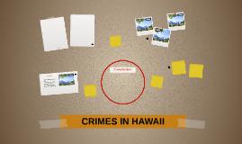 CRIMES IN HAWAII