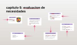 capitulo 5: evaluacion de necesidades