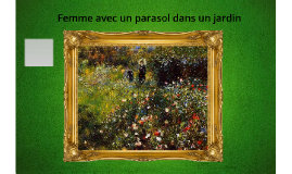 Femme avec un parasol dans un jardin