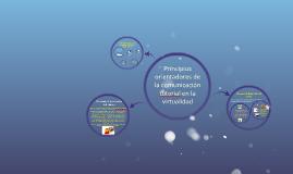 Principios orientadores de la comunicación tutorial en la vi