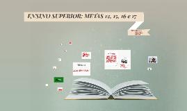 ENSINO SUPERIOR: METAS 12, 15, 16 e 17