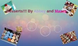 Desserts: Partner specch Abbey/Macey