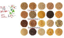 Cereales, tubérculos y leguminosas