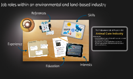 Job roles within an environmental and land-based industry