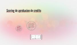 Scoring de aprobacion de credito