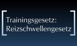 Trainingsgesetz- Trainingsprinzipien