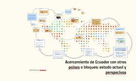 Acercamiento de Ecuador con otros paises o bloques: estado a