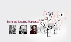 Copy of Copy of Copy of L'école des Relations Humaines