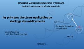 Les principes directeurs applicables au stockage des médicaments