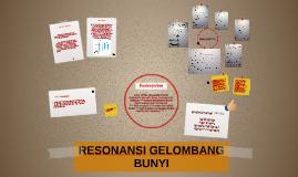 RESONANSI GELOMBANG BUNYI