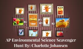 AP Enviromental Science Scavenger Hunt