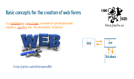 Basic concepts for the creation of web forms