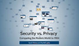 Security vs. Privacy