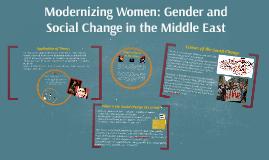 Modernizing Women: Gender and