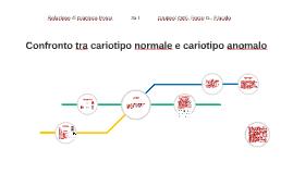Confronto tra cariotipo normale e cariotipo anomalo