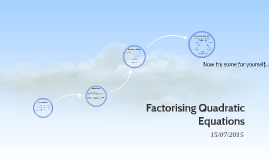 Factorising Quadratic Equations