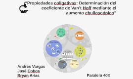 """""""Propiedades coligativas: Determinación del coeficiente de V"""