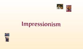 Copy of Year 7 Impressionism