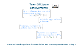 Copy of Team 2012 achievements