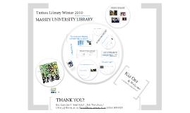 Turitea Library Mind Map Winter 2010